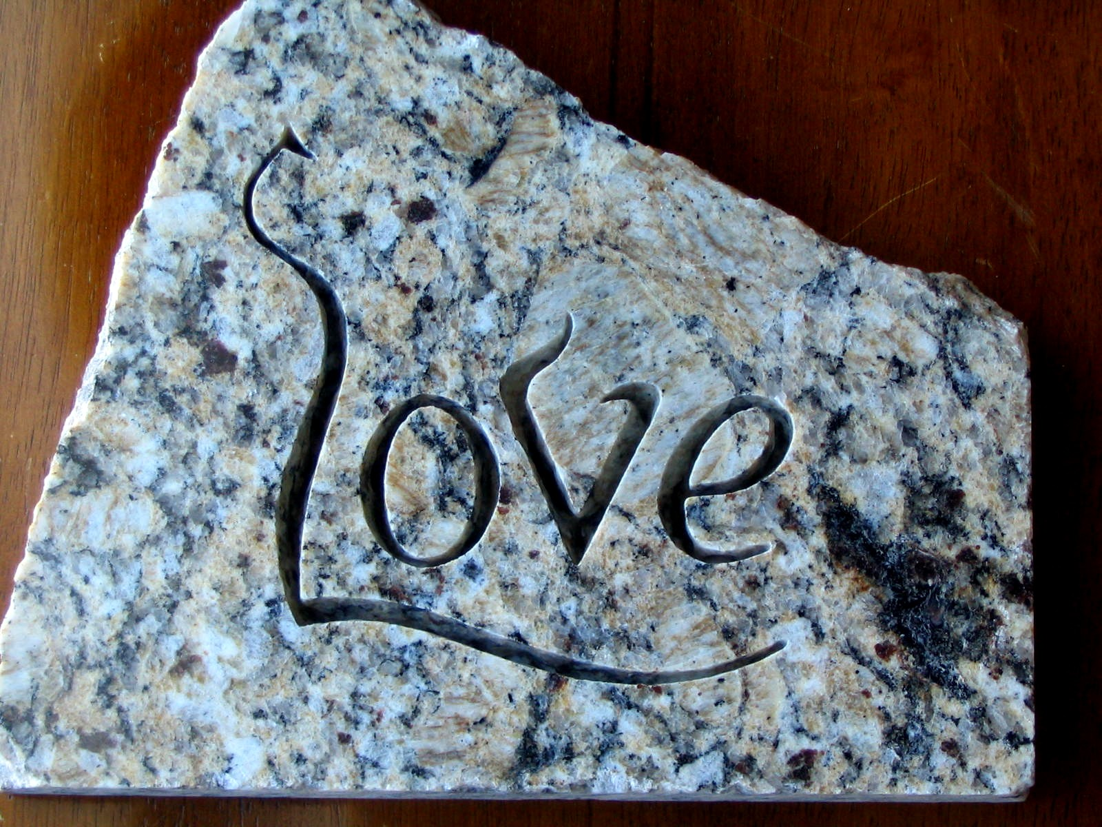 how to cut letters in granite