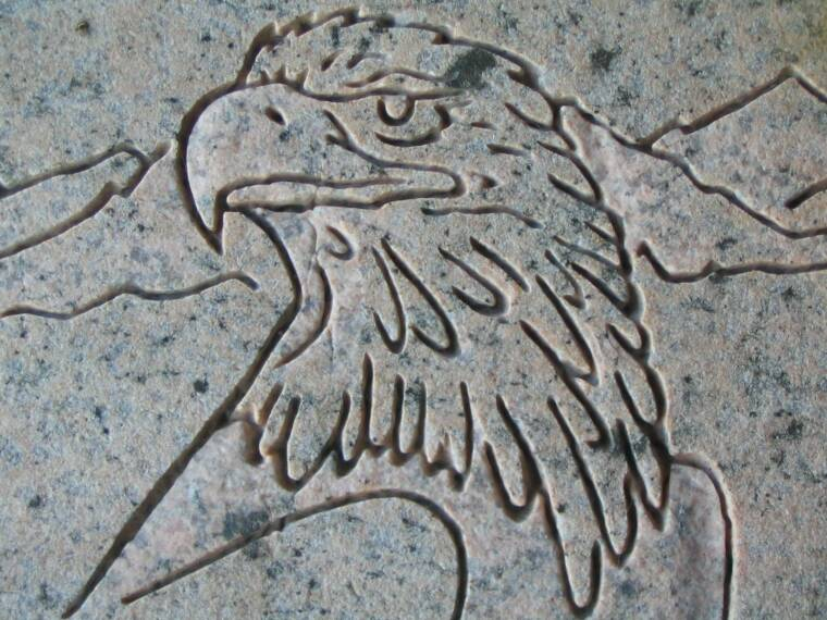 eNGRAVED GRANITE EAGLE