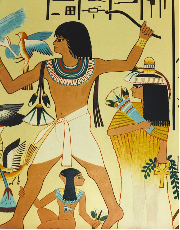 Chiappori arts illustration for Egypt mural painting