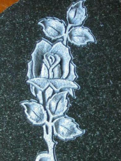 CARVED GRANITE ROSE