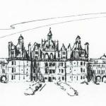 Ink Sketch of Chateau Chambourde